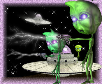 flying saucers and space aliens