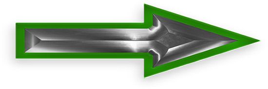 green glass and steel arrow