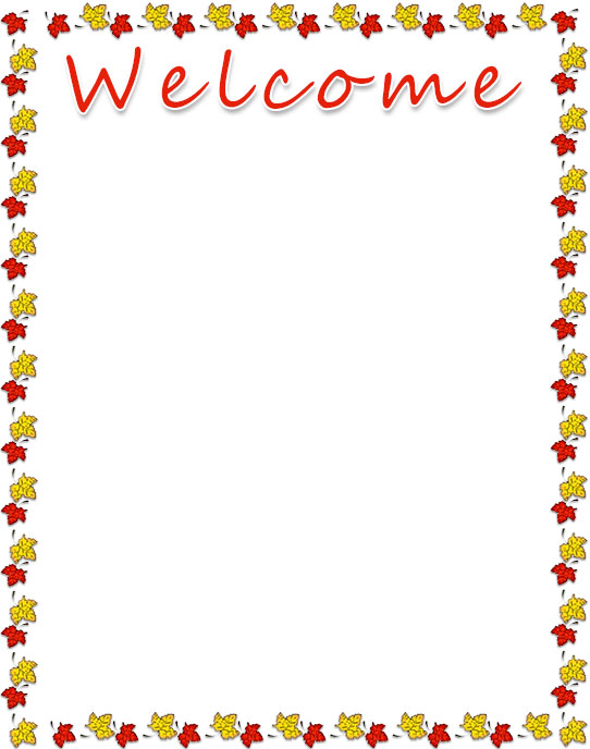 welcome border leaves