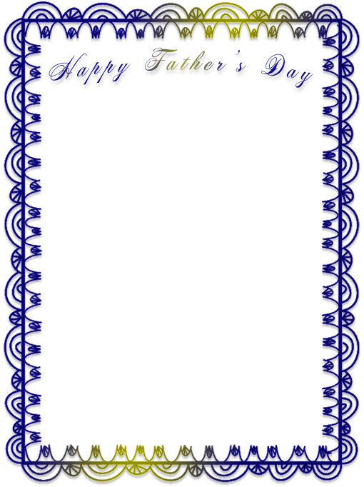Happy Father's Day frame