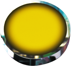 round yellow button with chrome and back tilt
