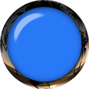 blue button glass