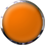 orange button with chrome trim