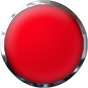 red glass button with chrome trim