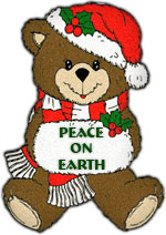 Christmas bear peace on earth