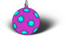 round ornament with stars