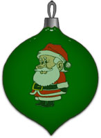 glass ornament with Santa Claus