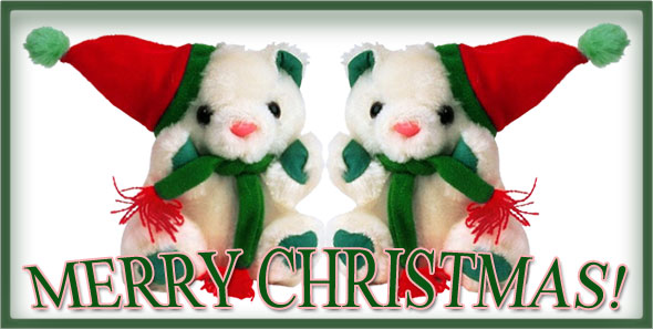 Merry Christmas Teddy Bears