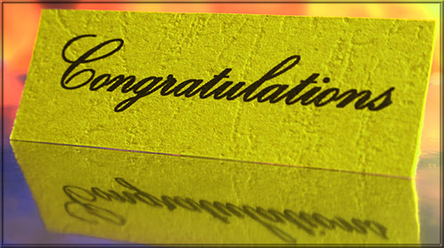 congratulations on card