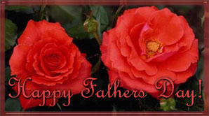 happy father's day on flowers