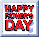 red on blue happy fathers day