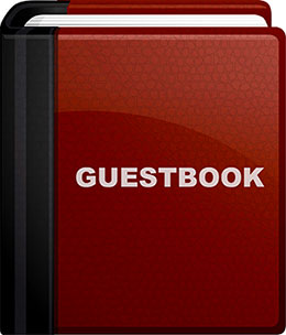 red and black guestbook