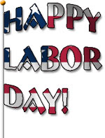 happy labor day flag