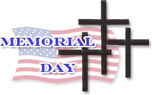 Memorial Day with Crosses