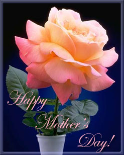 Happy Mother's Day pink flower in vase