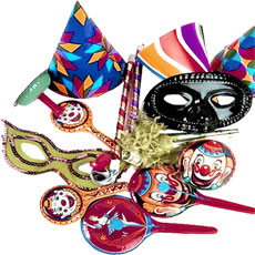 new year hats and masks
