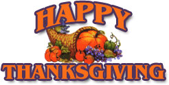 happy thanksgiving and cornucopia