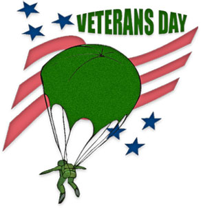 Paratrooper on Veterans Day