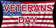 Veterans Day graphic for black pages